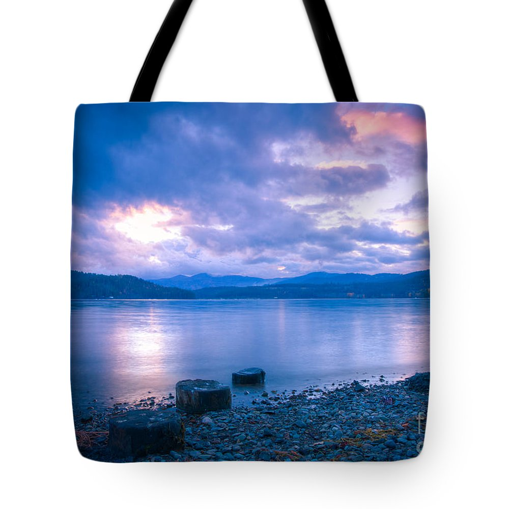 Cda Tote Bag featuring the photograph Blue Evening by Idaho Scenic Images Linda Lantzy