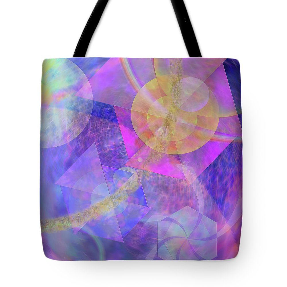 Blue Expectations Tote Bag featuring the digital art Blue Expectations by John Beck