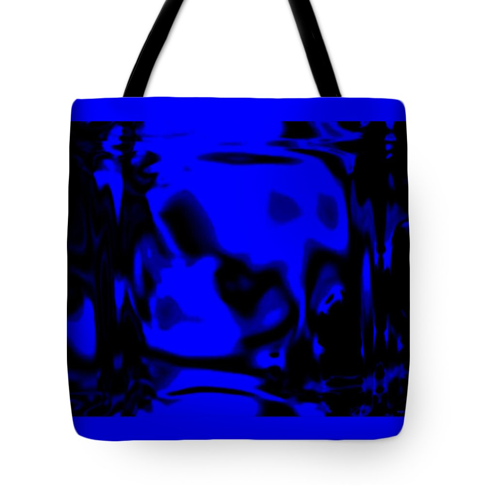 Aupre.com Hypermorphic Arthouse Unique Original Digital Art Made By The Hari Rama Tote Bag featuring the painting Blue Fashion by The Hari Rama