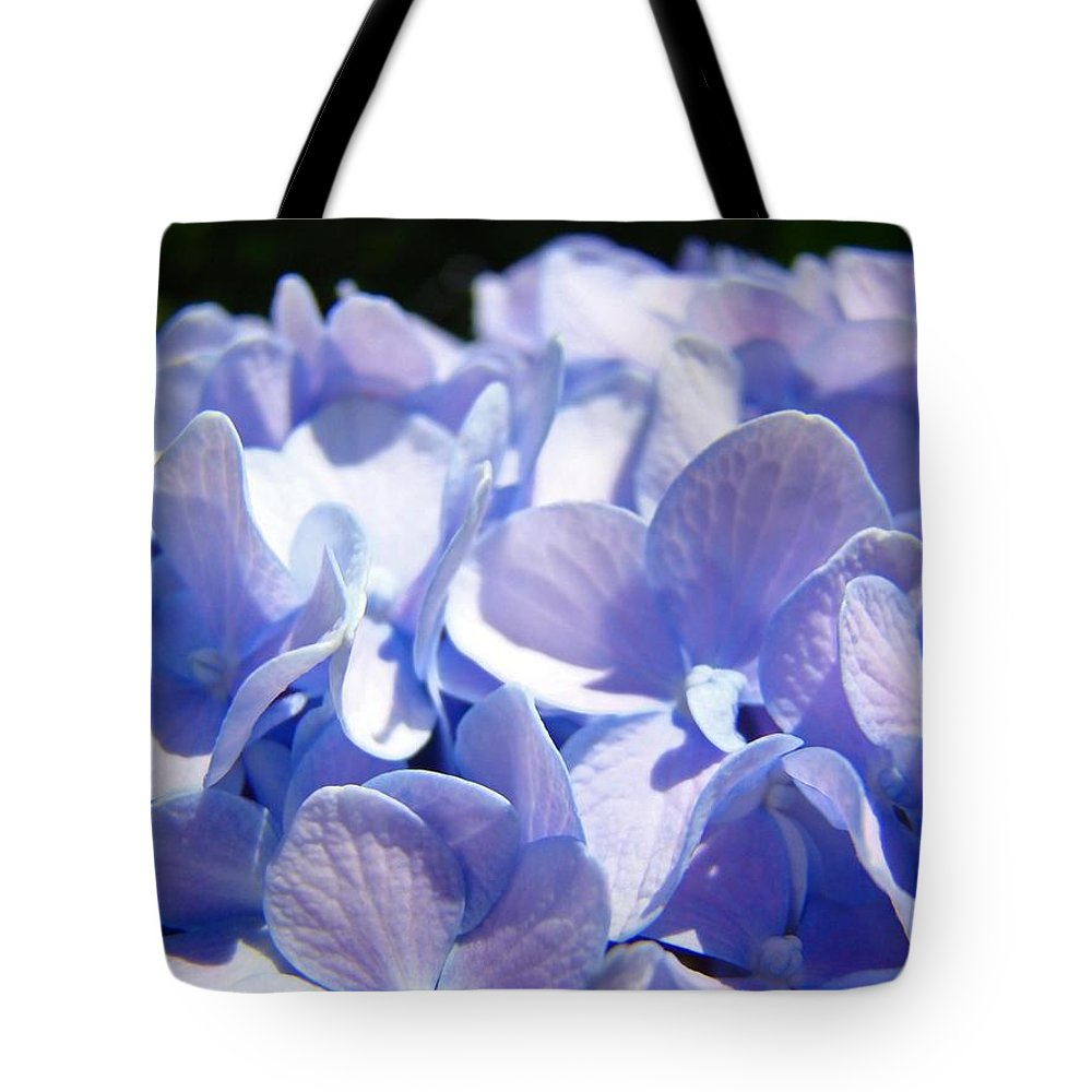 Hydrangea Tote Bag featuring the photograph Blue Floral Art Prints Blue Hydrangea Flower Baslee Troutman by Baslee Troutman