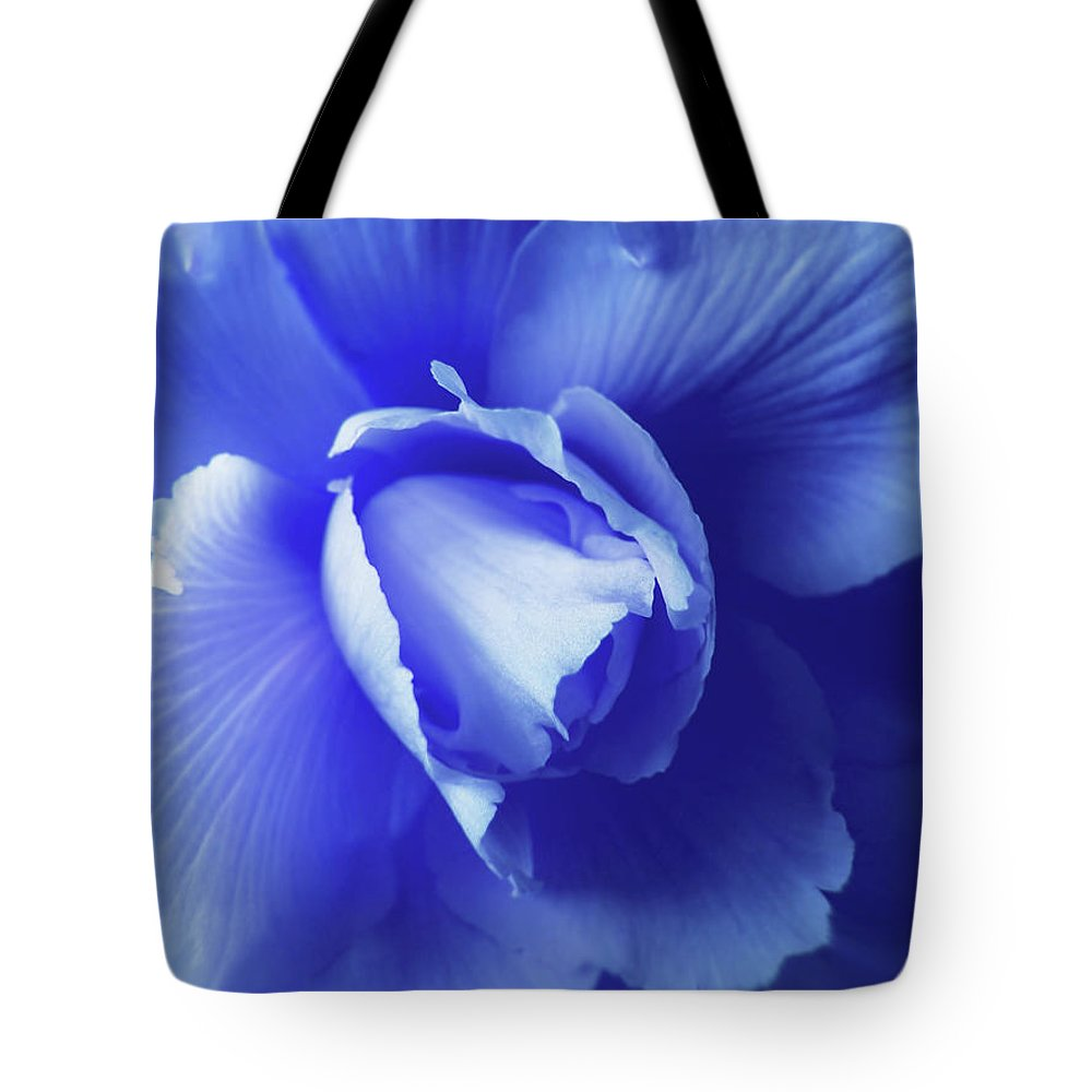 Begonia Tote Bag featuring the photograph Blue Floral Begonia by Jennie Marie Schell