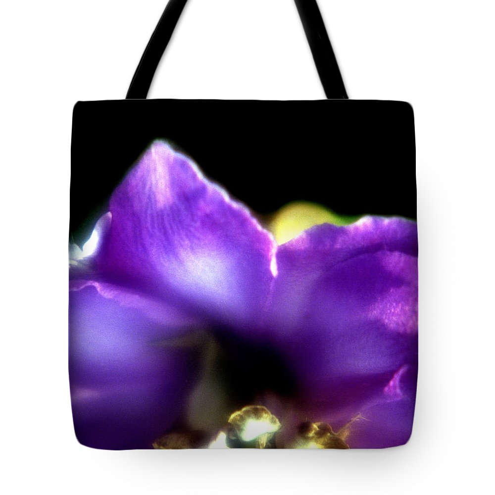 Flower Tote Bag featuring the photograph Blue Flower by Lee Santa