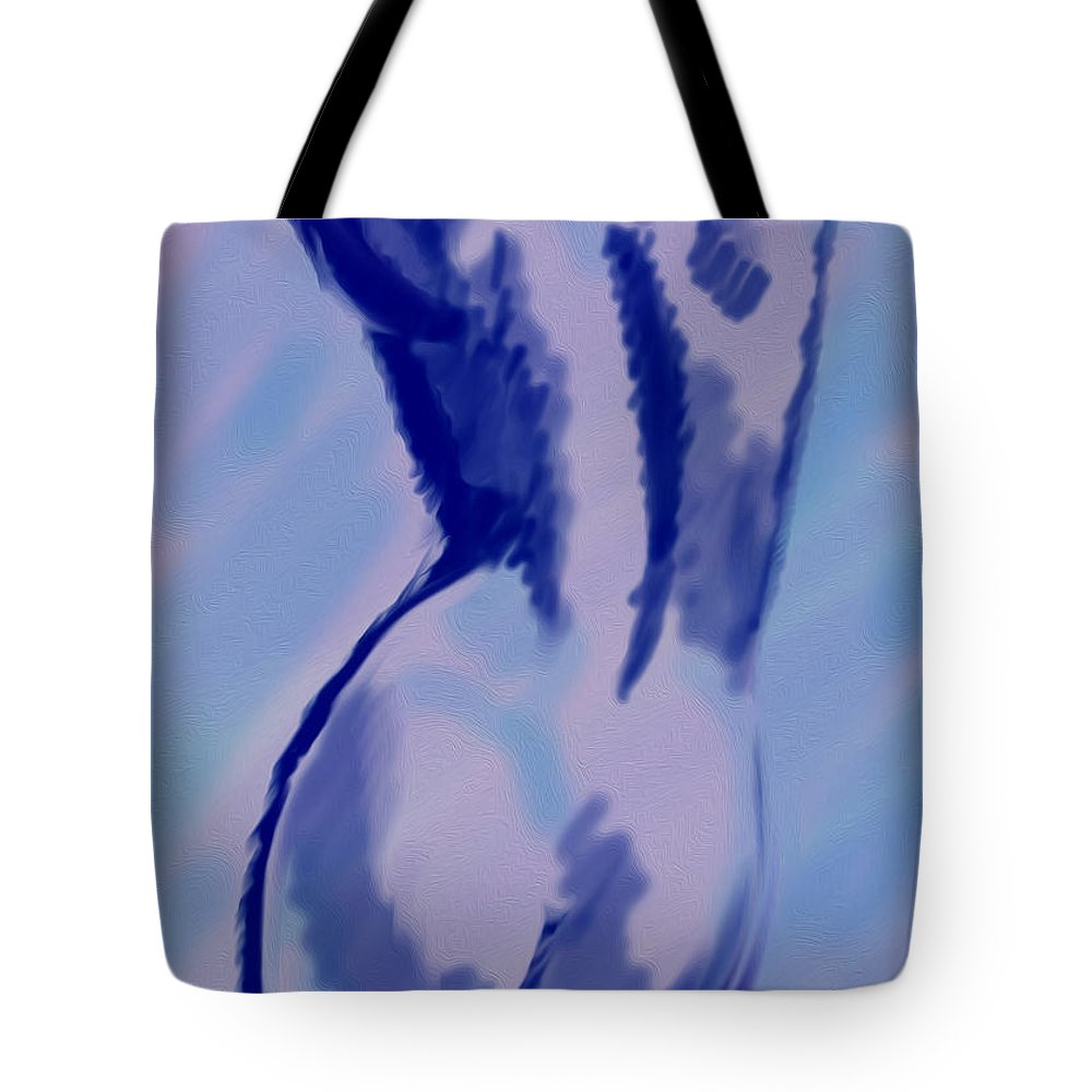 Sketch Tote Bag featuring the digital art Blue For You by Vincent Franco