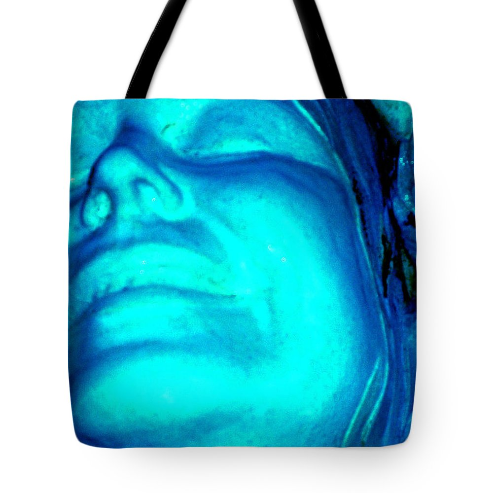 Blue Tote Bag featuring the photograph Blue Goddess by Wayne Potrafka