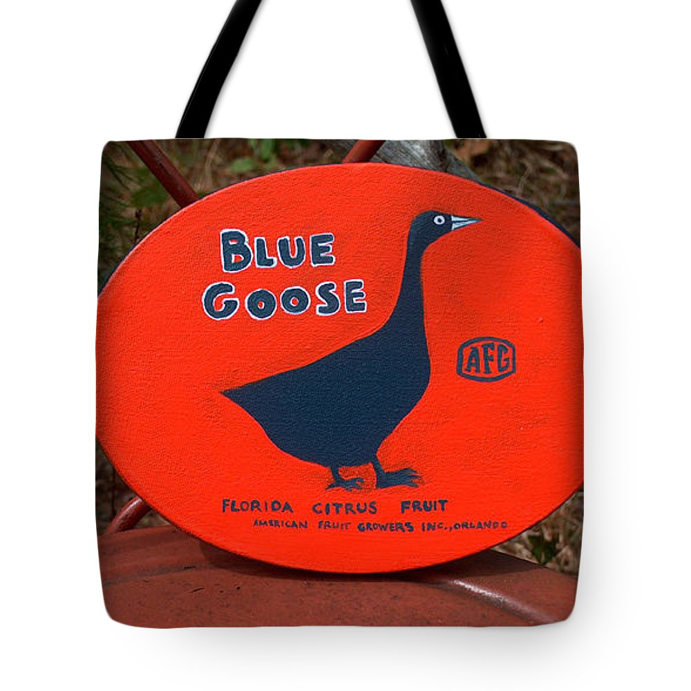 Blue Goose Tote Bag featuring the painting Blue Goose by Racquel Morgan