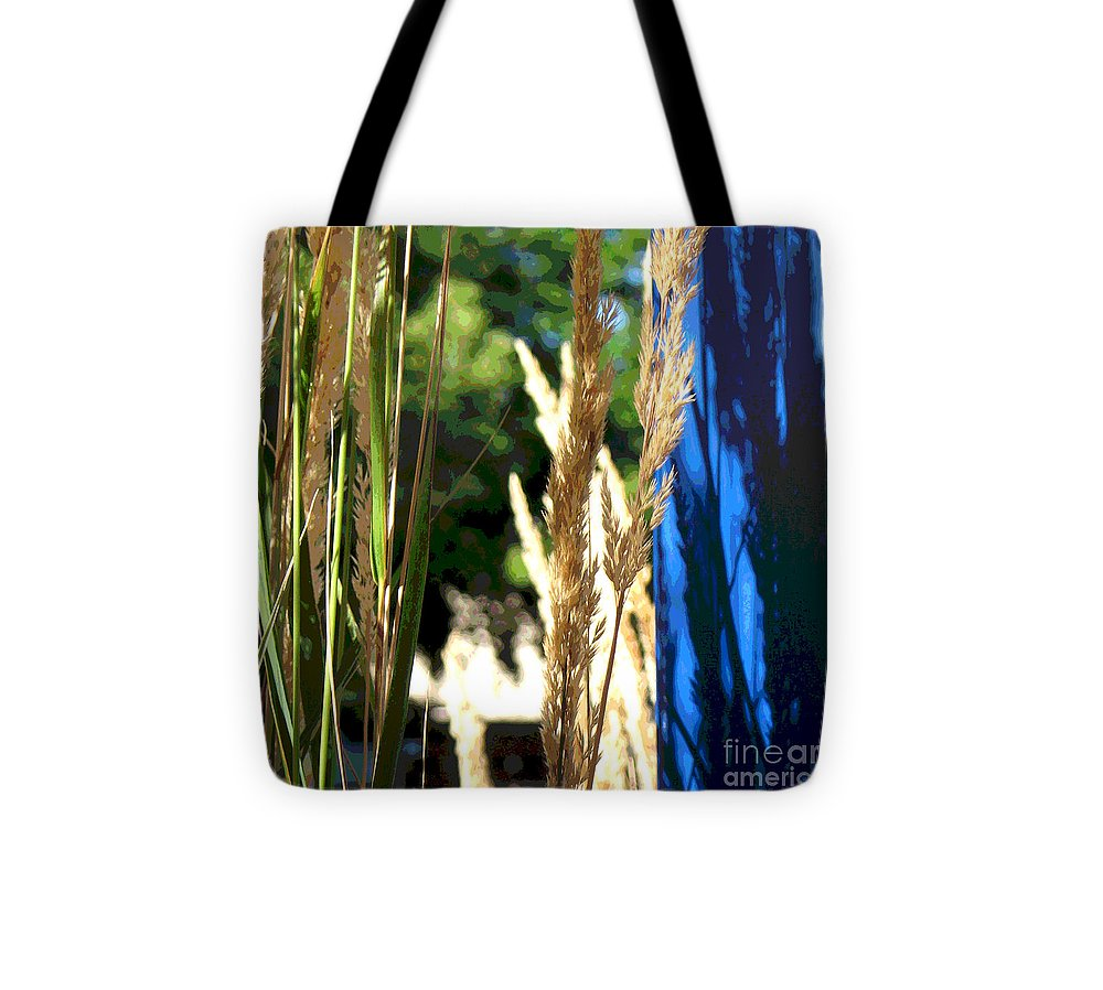 Blue Tote Bag featuring the photograph Blue Green by Gary Everson