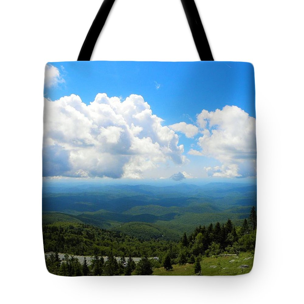 Blue Sky Tote Bag featuring the photograph Blue Haze by Ric Schafer