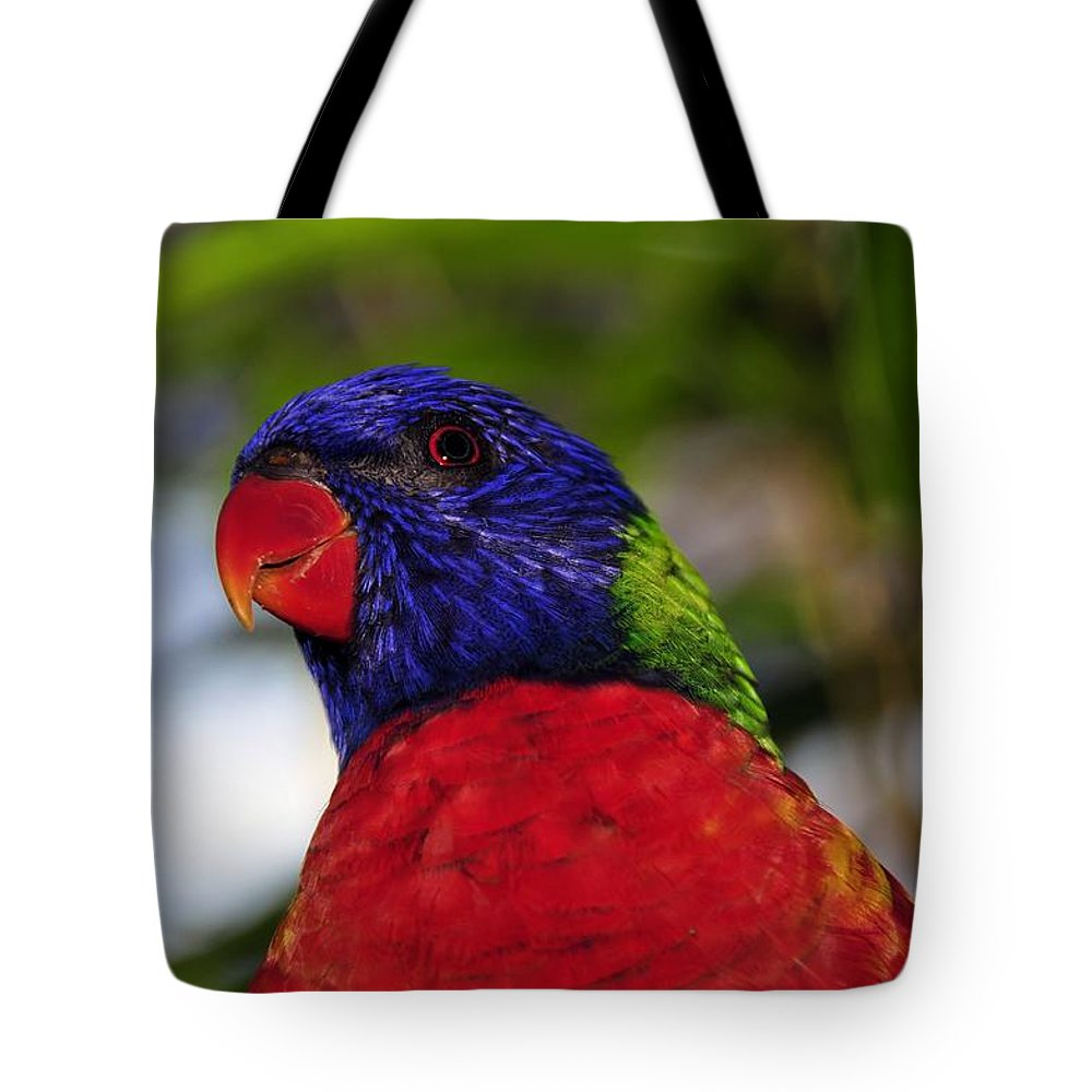 Tropical Tote Bag featuring the photograph Blue Head Bird by David Lee Thompson