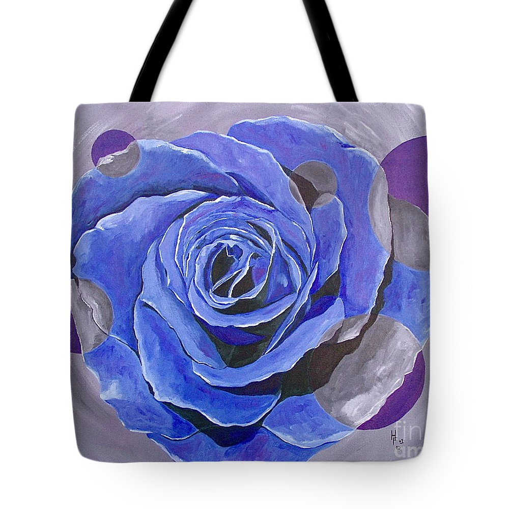 Acrylic Tote Bag featuring the painting Blue Ice by Herschel Fall