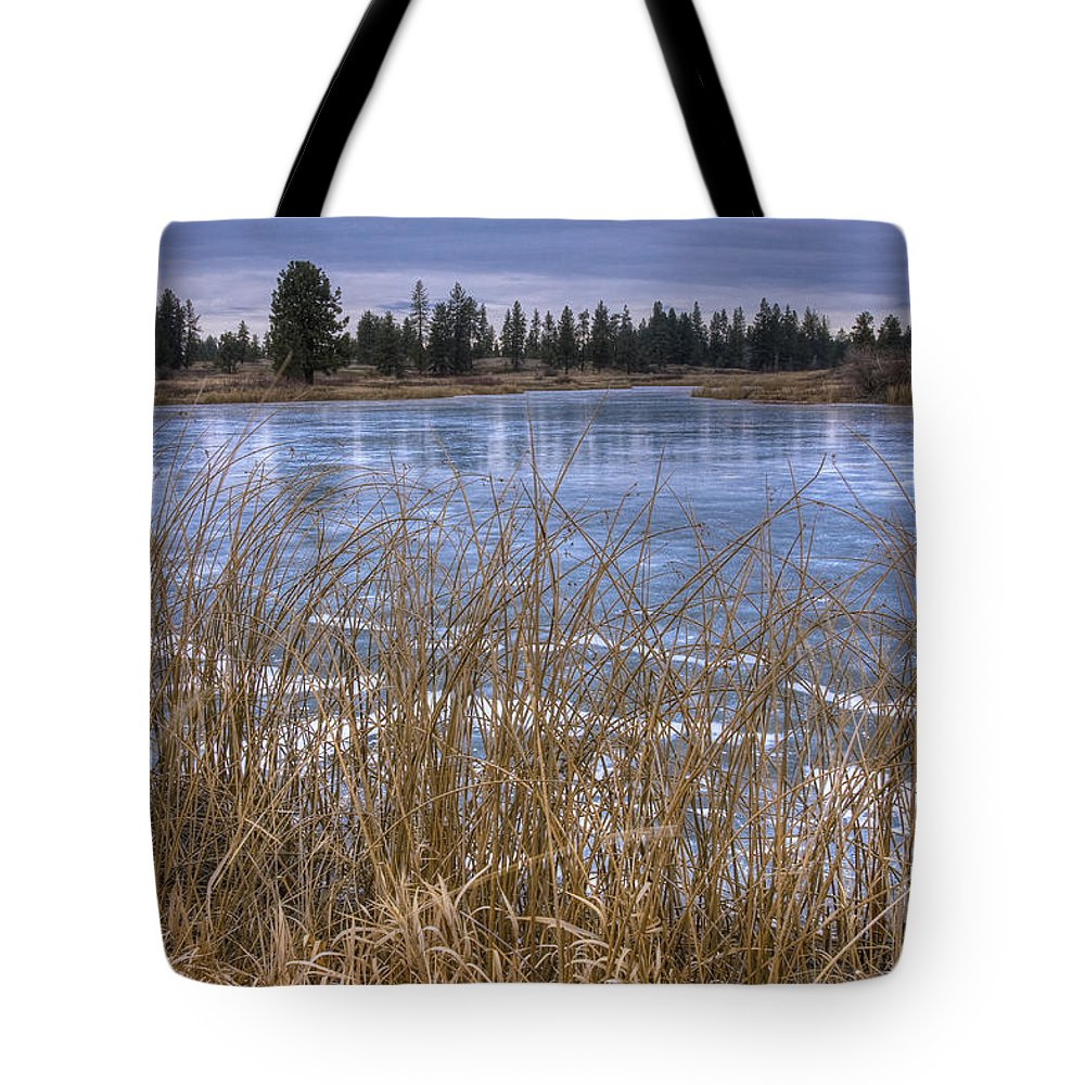 Turnbull Tote Bag featuring the photograph Blue Ice by Idaho Scenic Images Linda Lantzy