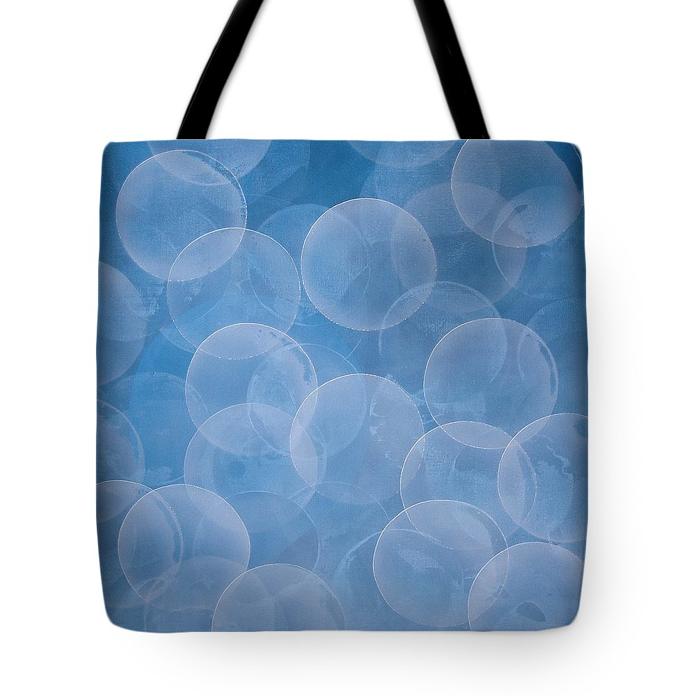 Abstract Tote Bag featuring the painting Blue by Jitka Anlaufova