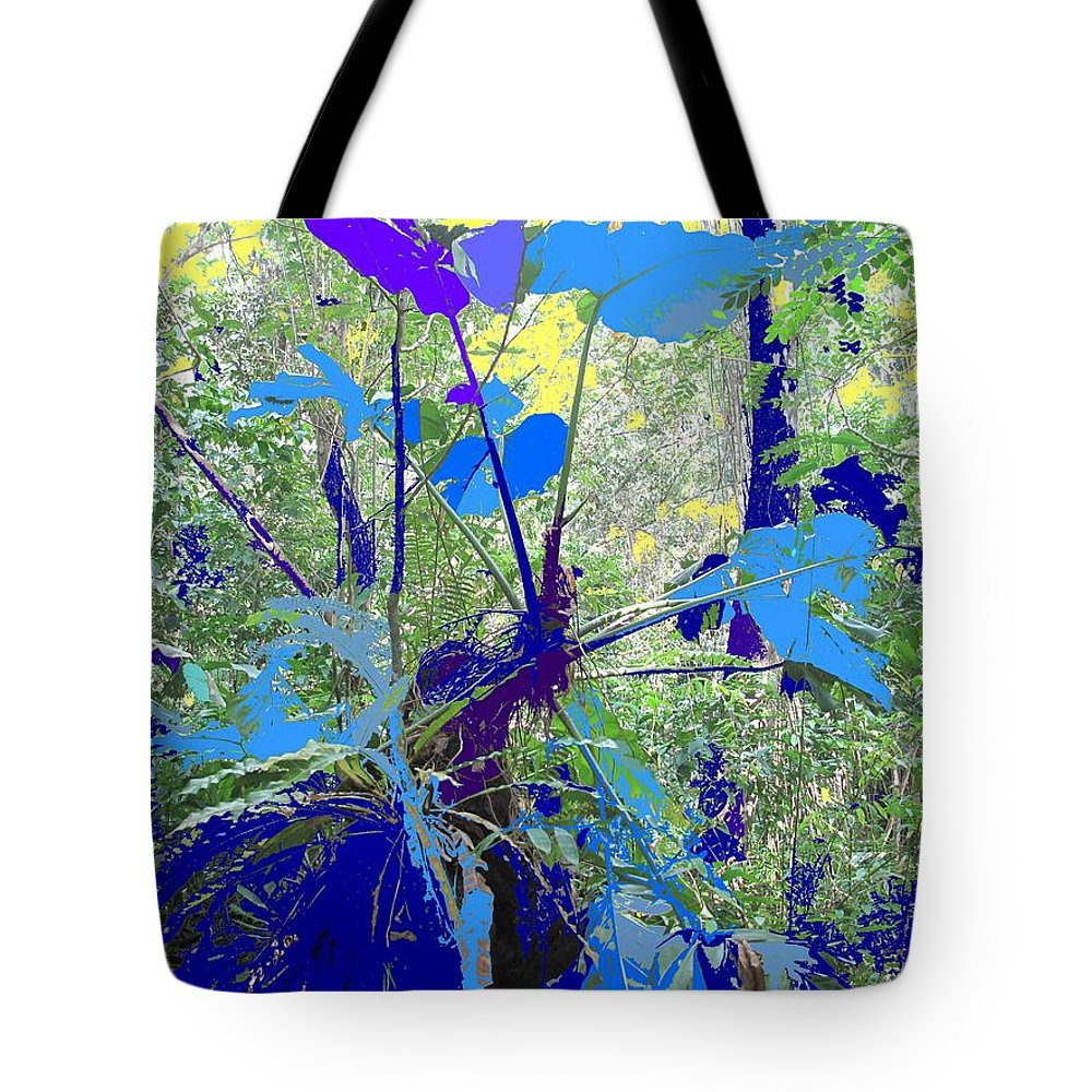 Tote Bag featuring the photograph Blue Jungle by Ian MacDonald