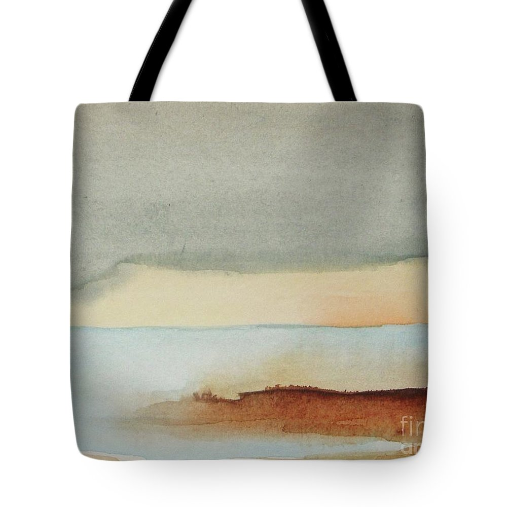 Abstract Tote Bag featuring the painting Blue Lagoon by Vesna Antic