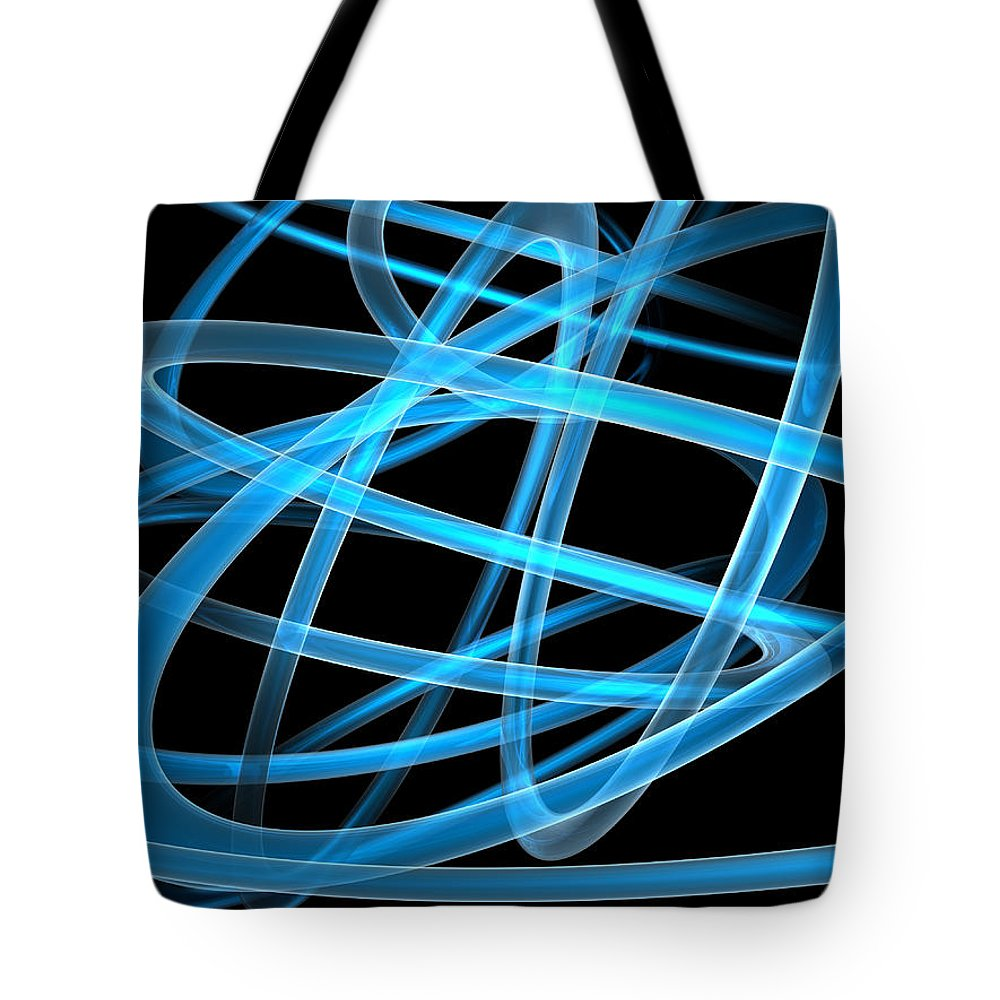 Scott Piers Tote Bag featuring the painting Blue Light by Scott Piers