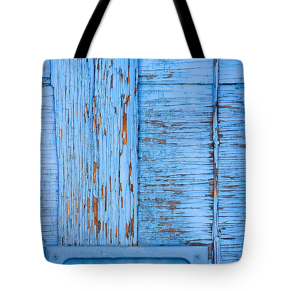 Colorado Tote Bag featuring the photograph Blue Mail by Mark Braun