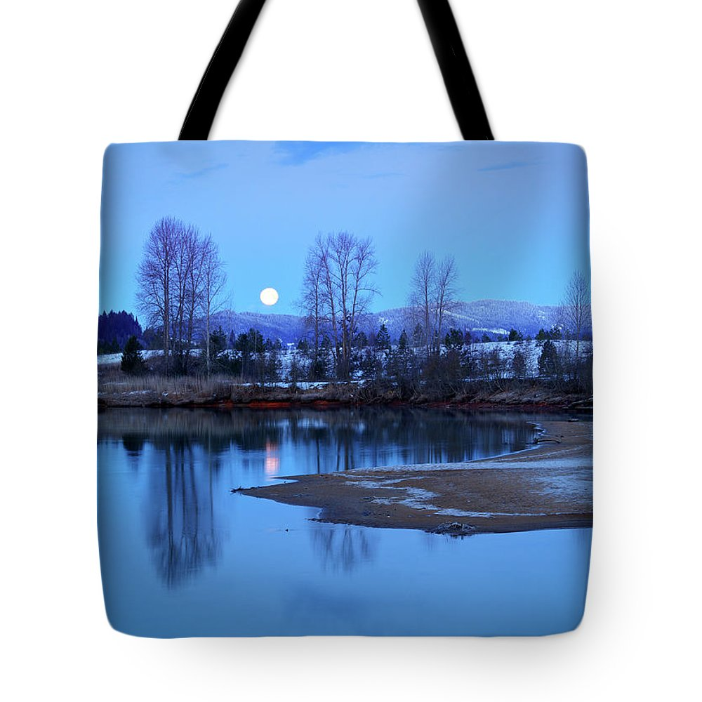 Idaho Tote Bag featuring the photograph Blue Moon by Idaho Scenic Images Linda Lantzy