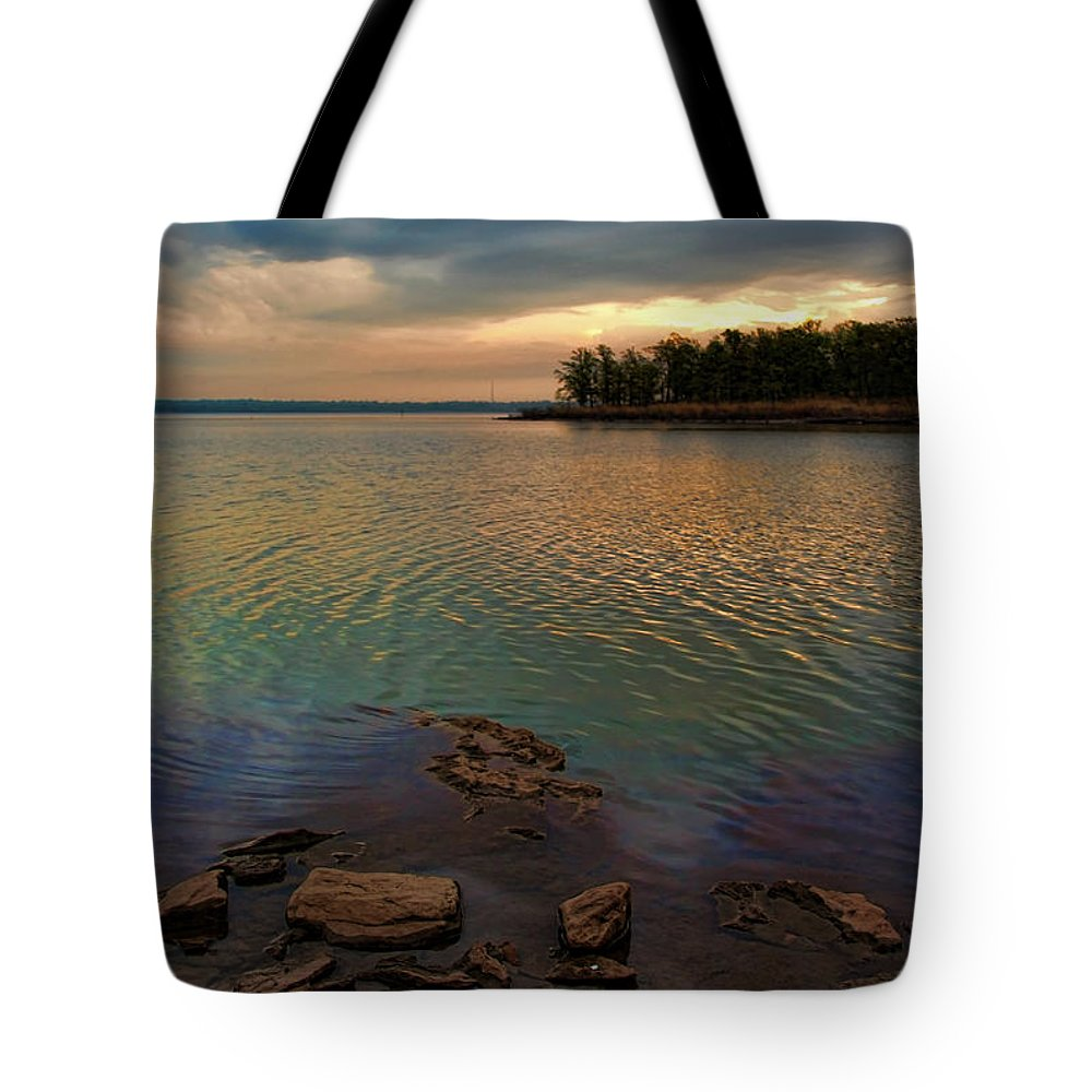 Sunrise Tote Bag featuring the photograph Blue Morning by Carolyn Fletcher