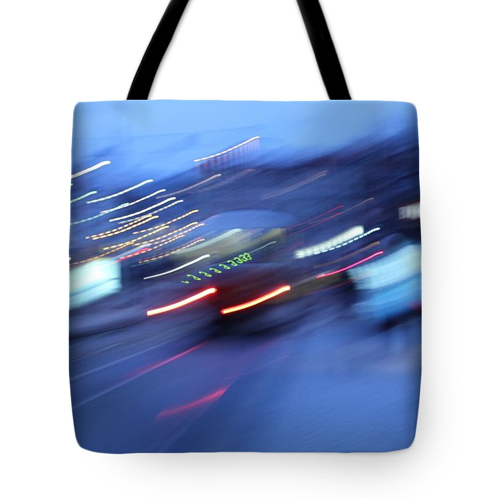 Blue Tote Bag featuring the photograph Blue Night by Radka Zimova King