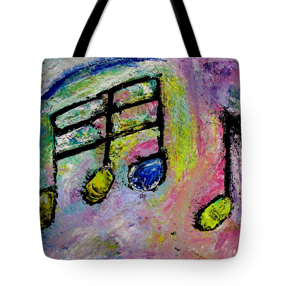 Impressionist Tote Bag featuring the painting Blue Note by Anita Burgermeister