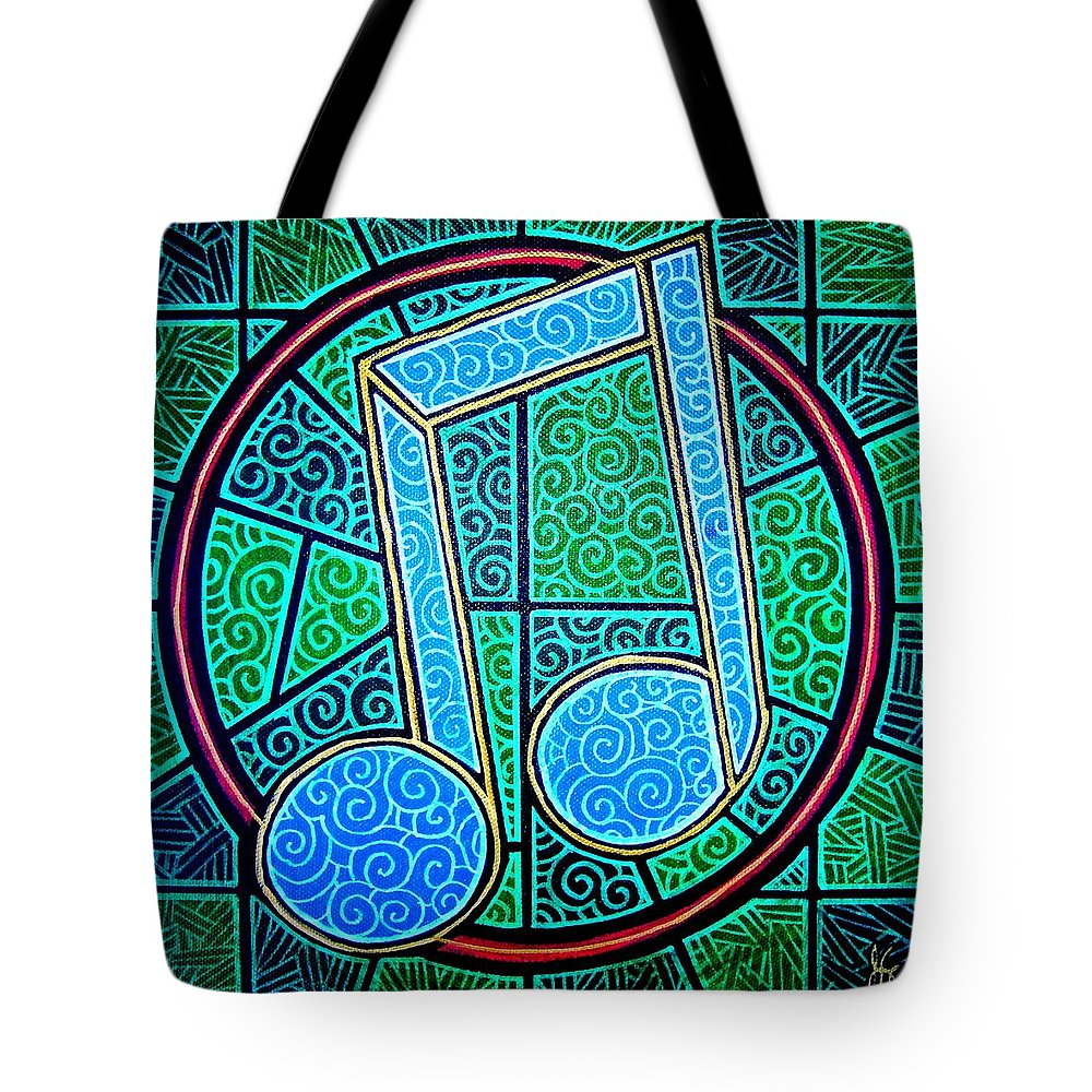 Music Tote Bag featuring the painting Blue Note by Jim Harris