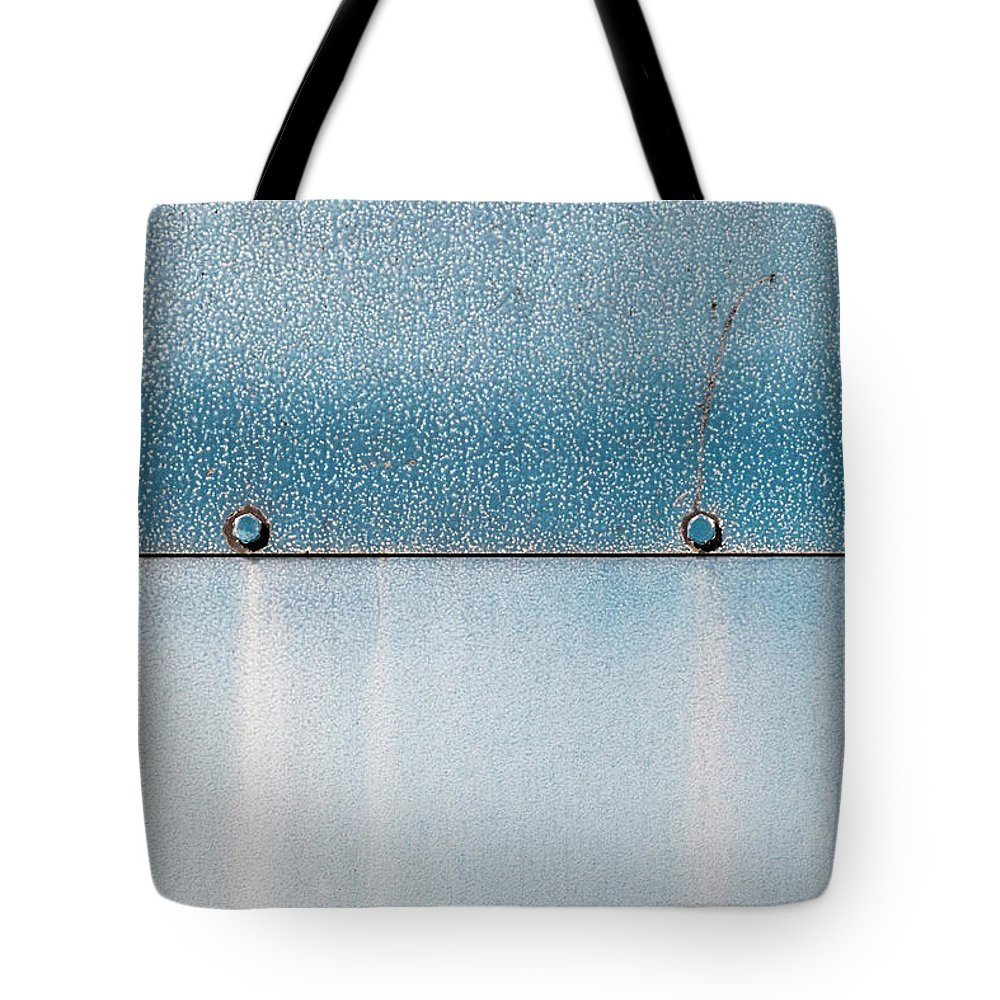 Abstract Tote Bag featuring the photograph Blue Over Blue 03 by Richard Nixon