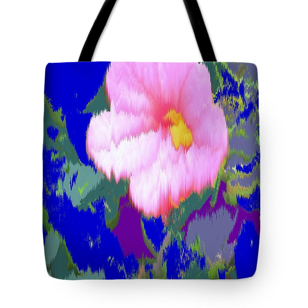 Flower Tote Bag featuring the photograph Blue Pink by Ian MacDonald