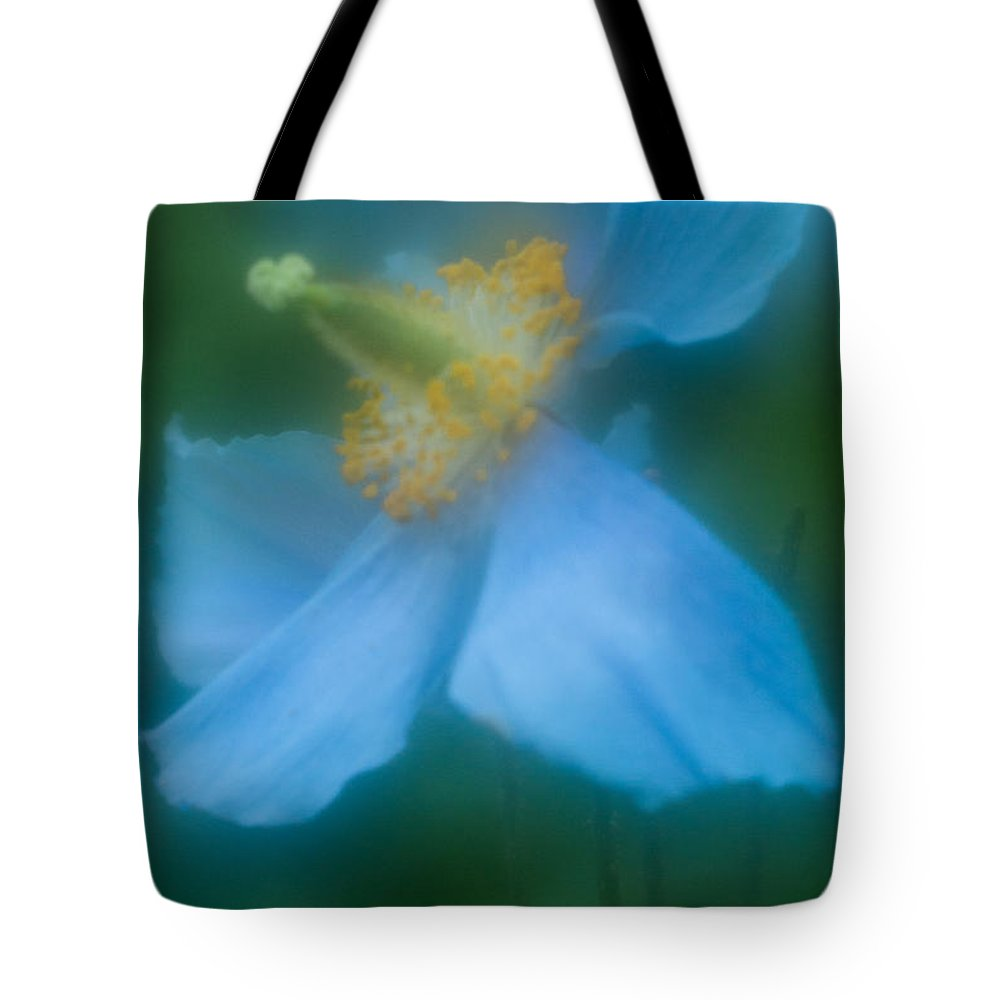 Blue Poppies Tote Bag featuring the photograph Blue Poppy 5 by Jill Greenaway