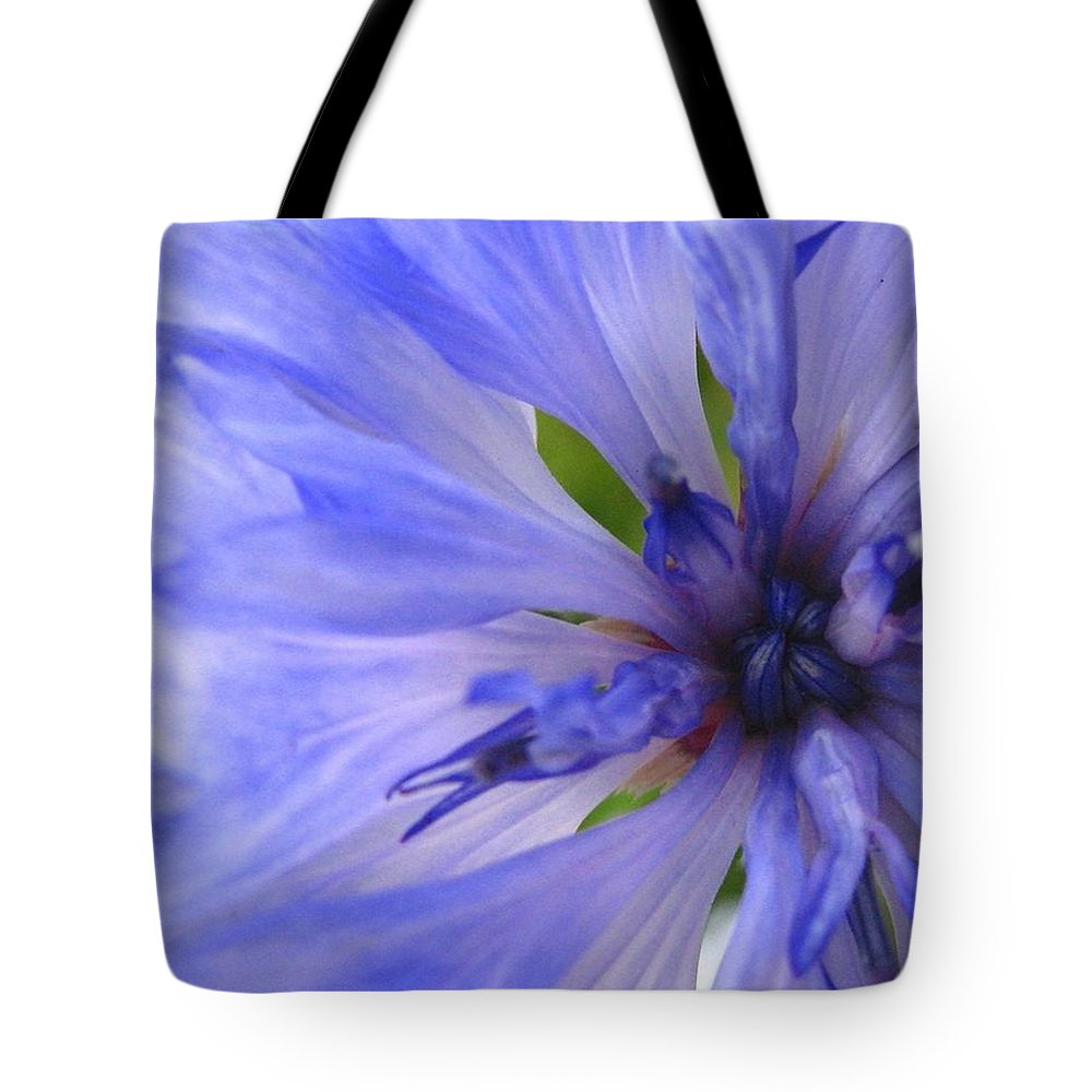 Flower Tote Bag featuring the photograph Blue Princess by Rhonda Barrett