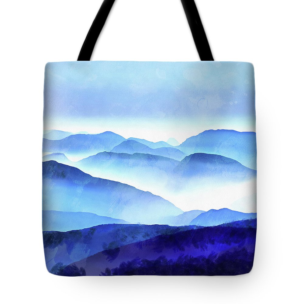 Painting Tote Bag featuring the photograph Blue Ridge Mountains by Edward Fielding