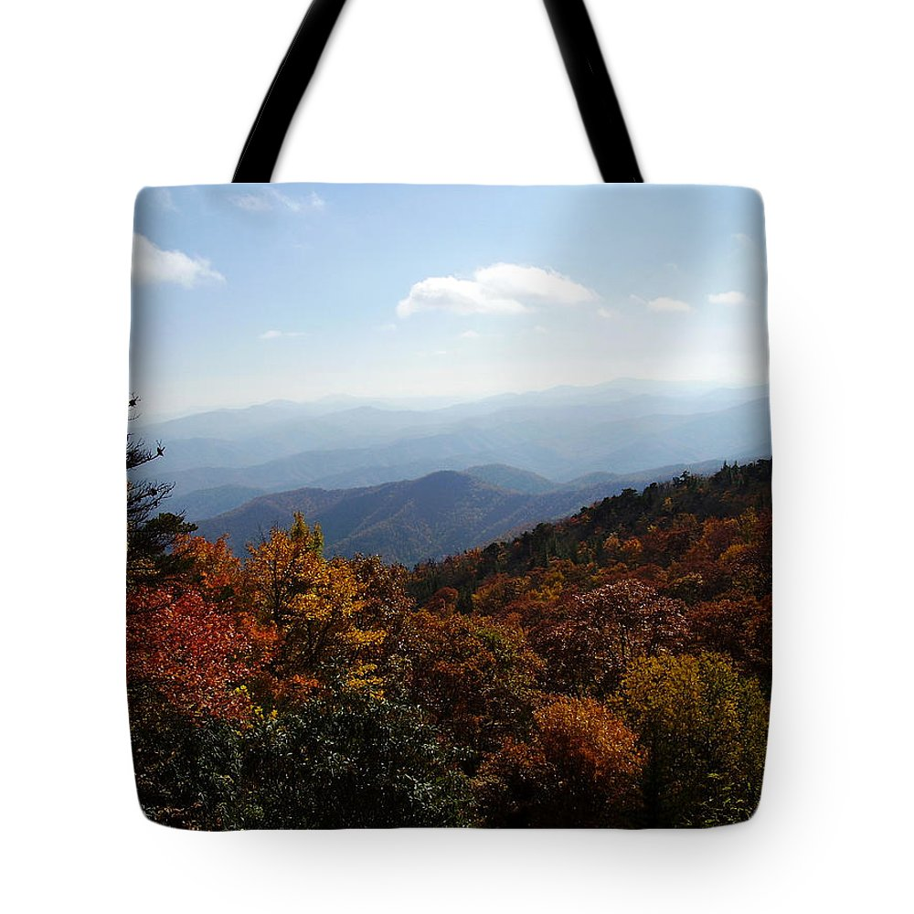 Blue Ridge Mountains Tote Bag featuring the photograph Blue Ridge Mountains by Flavia Westerwelle