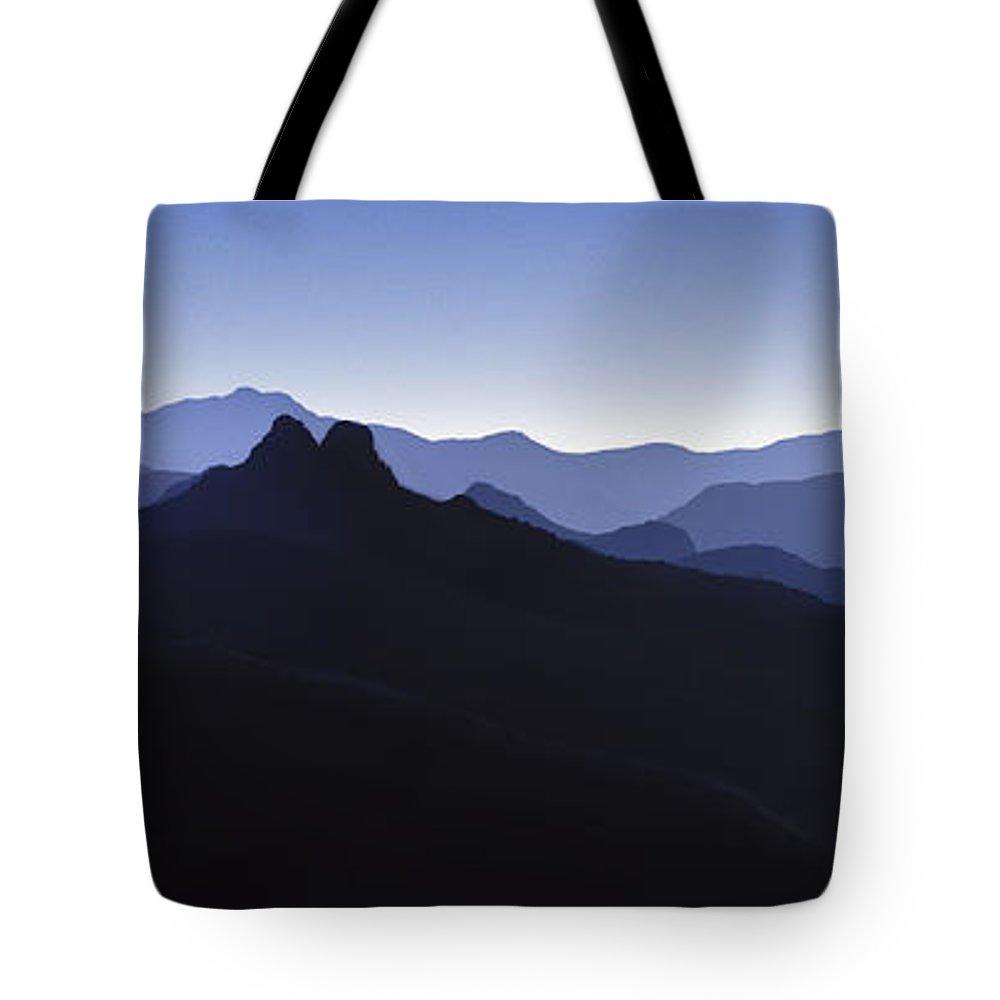 Blue Ridge Mountains Tote Bag featuring the photograph Blue Ridge Mountains. Pacific Crest Trail by David Zanzinger