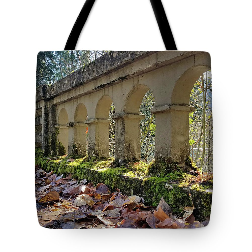 Oregon Tote Bag featuring the photograph Blue River Bridge by Lindy Pollard