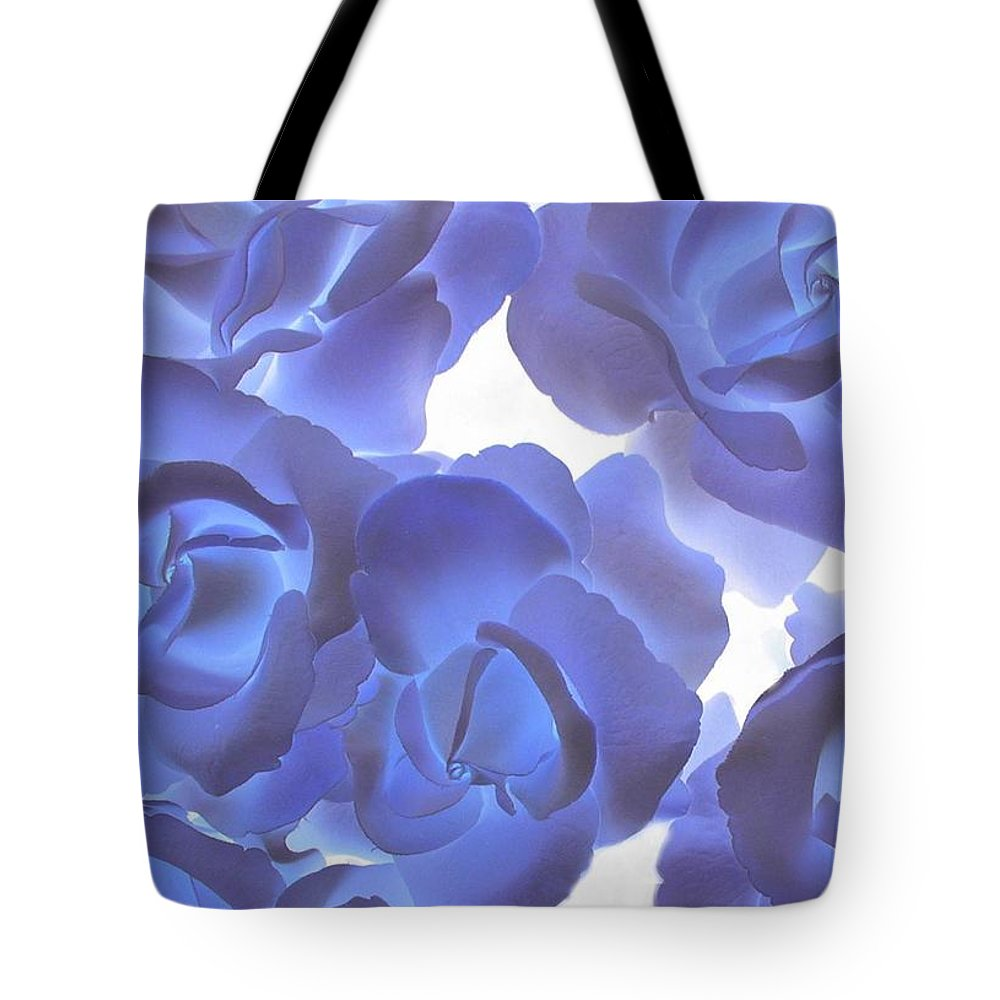 Blue Tote Bag featuring the photograph Blue Roses by Tom Reynen