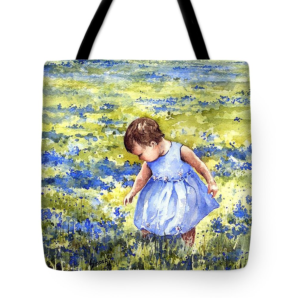 Blue Tote Bag featuring the painting Blue by Sam Sidders