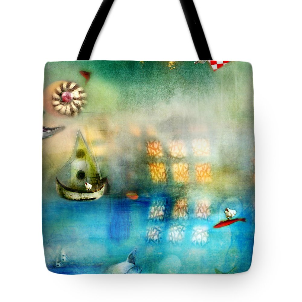 Blue Sea Tote Bag featuring the photograph Blue Sea by Karen Divine