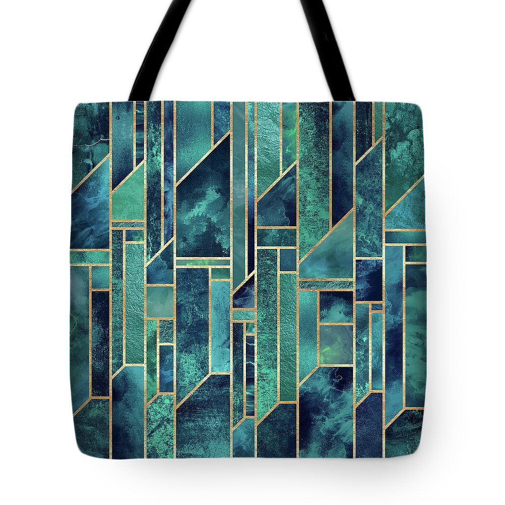Graphic Tote Bag featuring the digital art Blue Skies by Elisabeth Fredriksson