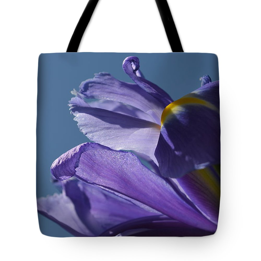 Iris Tote Bag featuring the photograph Blue Skies by Tim Votapka