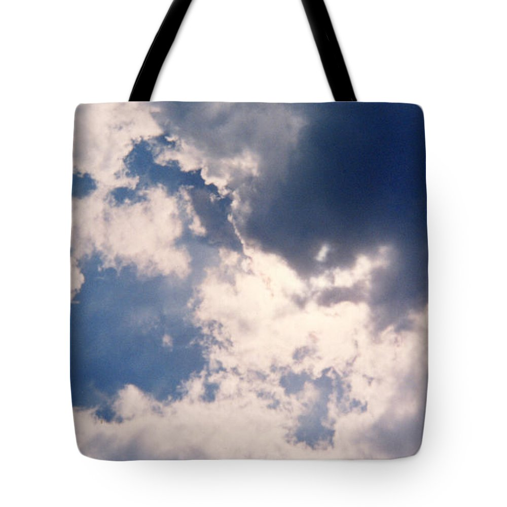 Blue Tote Bag featuring the photograph Blue Sky And Clouds by Cindy New