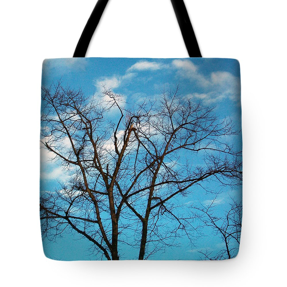 Tree Tote Bag featuring the photograph Blue Sky by Munir Alawi