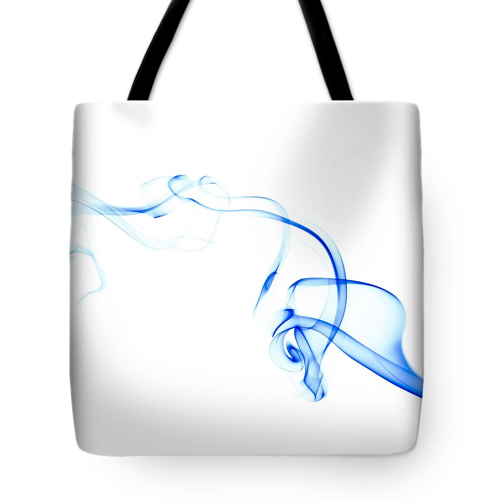 Scott Norris Photography Tote Bag featuring the photograph Blue Smoke by Scott Norris
