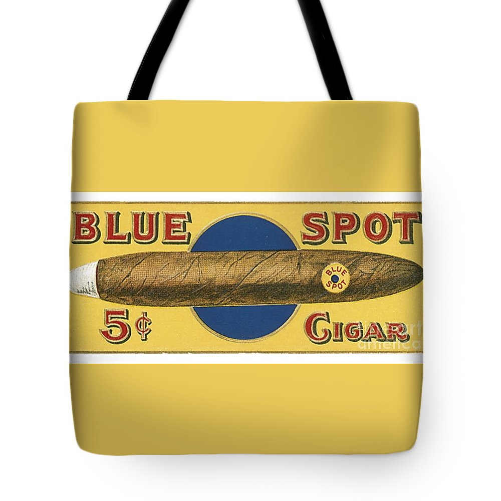 Blue Spot Cigars Tote Bag featuring the photograph Blue Spot Cigars by Priscilla Wolfe
