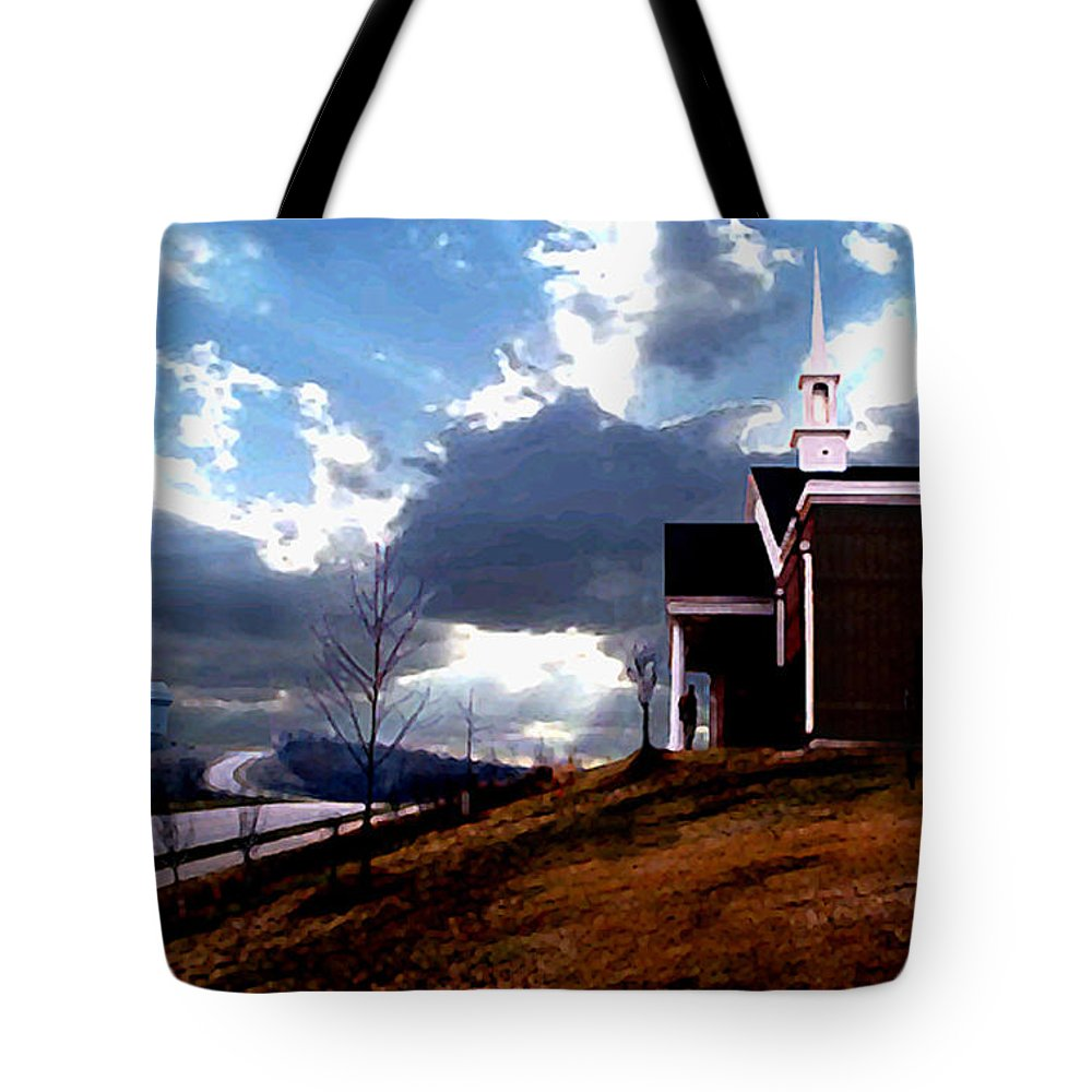 Landscape Tote Bag featuring the photograph Blue Springs Landscape by Steve Karol