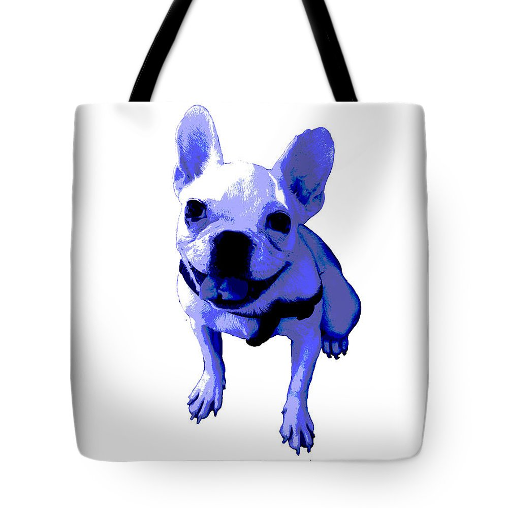 Tote Bag featuring the painting Blue Terrier by Linda Swon