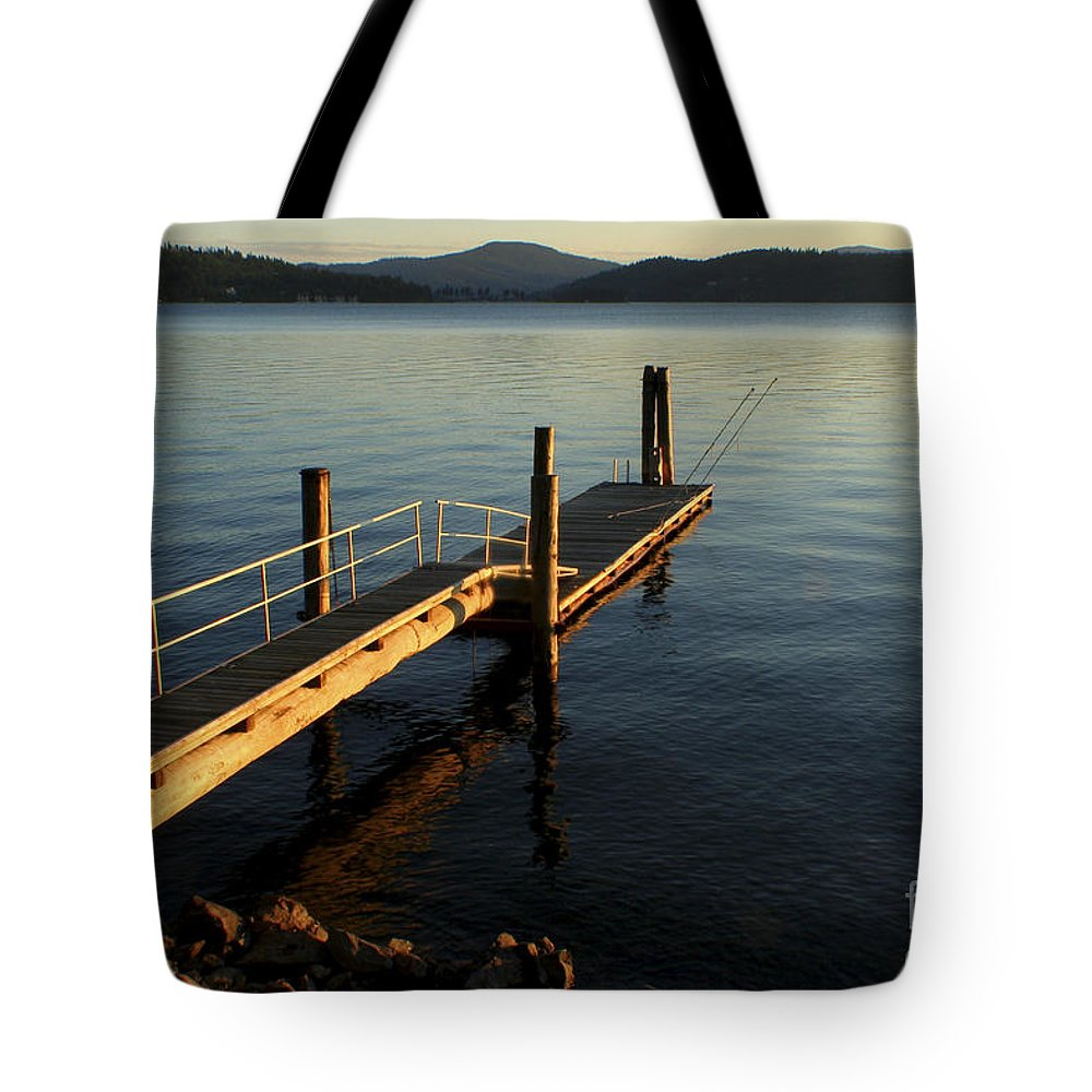 Tranquility Tote Bag featuring the photograph Blue Tranquility by Idaho Scenic Images Linda Lantzy