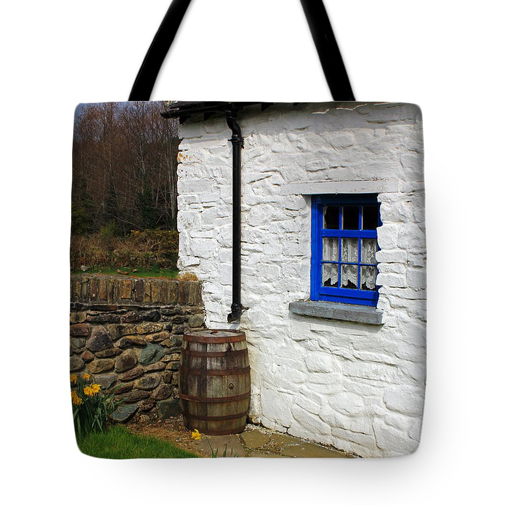 Houses Tote Bag featuring the photograph Blue Window by Jennifer Robin