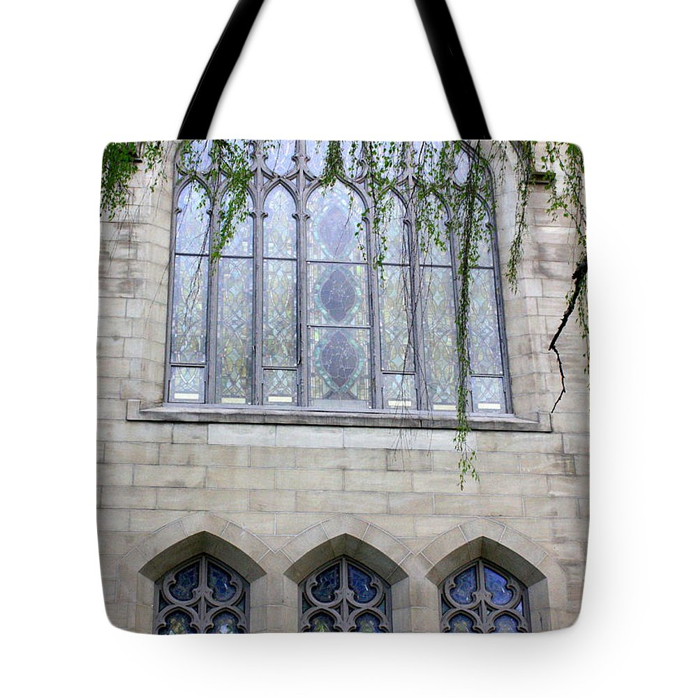 Windows Tote Bag featuring the photograph Blue Windows by Carol Groenen