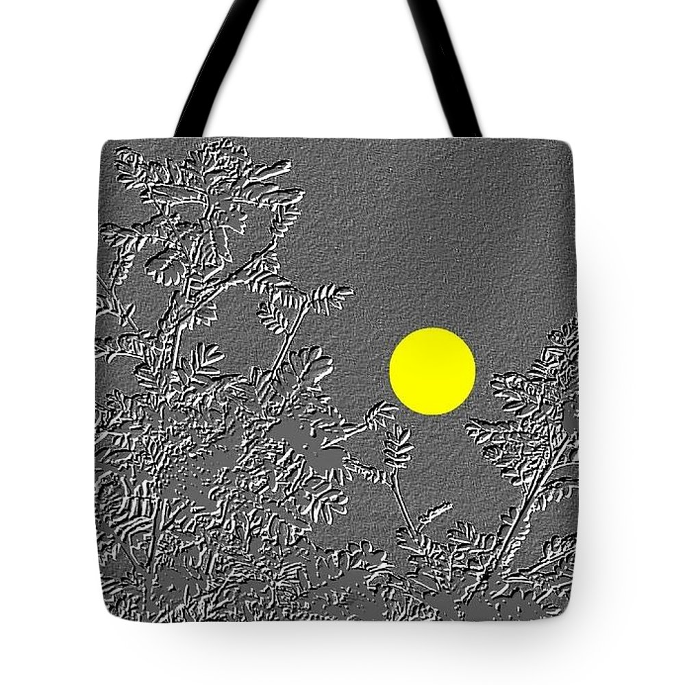 Abstract Tote Bag featuring the digital art Bluebirds by Will Borden