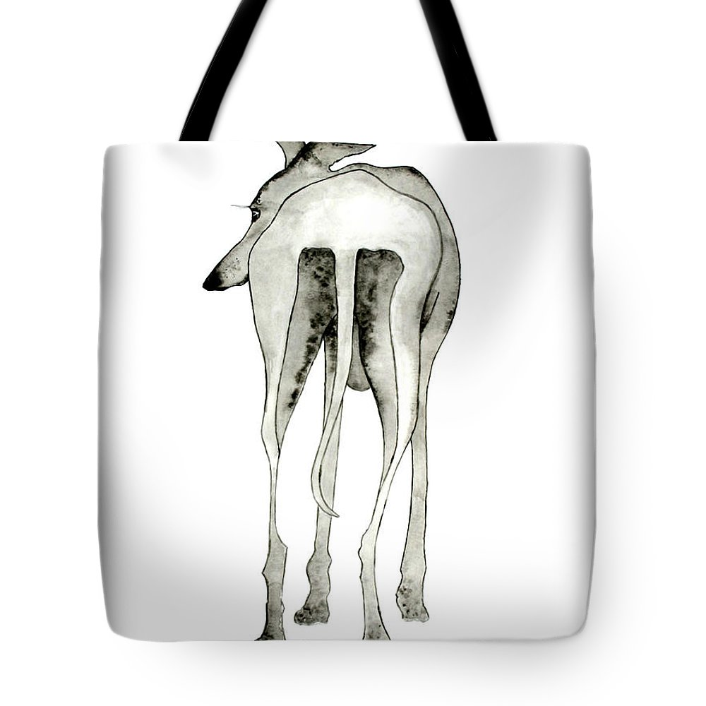 Dogs Tote Bag featuring the painting Bluedog by Richard Williamson