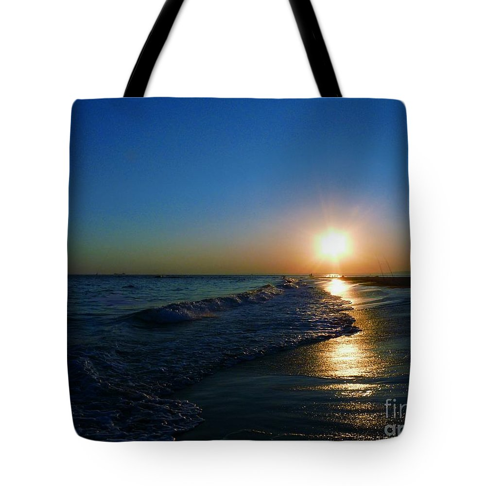 Landscape Tote Bag featuring the photograph Blues In The Evening by Kendall Eutemey
