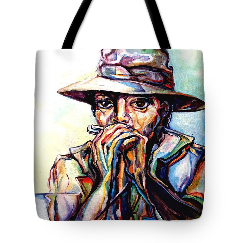 Lloyd Deberry Tote Bag featuring the painting Blues Traveler by Lloyd DeBerry